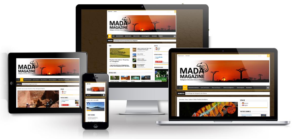 Showcase responsive Madamagazine